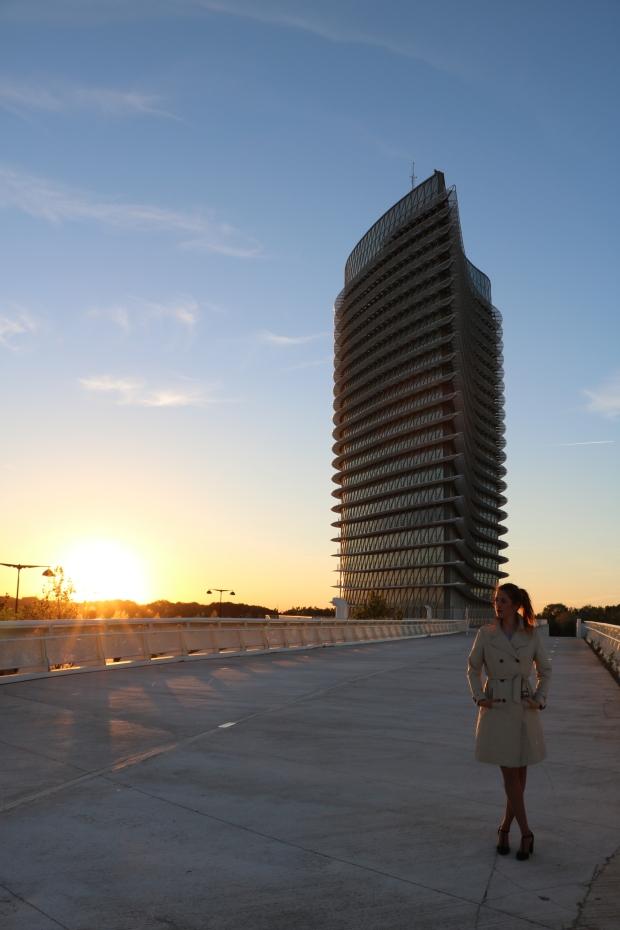 Atardecer en el parque del agua Zaragoza