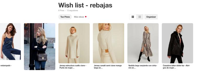 Mi tablero de rebajas en Pinterest- AppleNelken