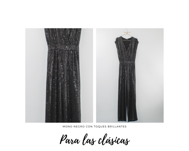 mono negro con toque brillante de The Closet