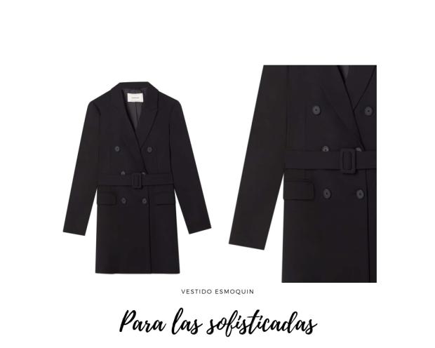 vestido esmoquin negro