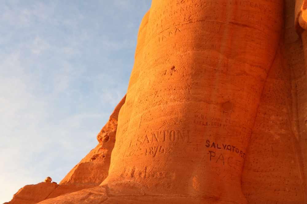 Detalle del coloso de Ramsés II