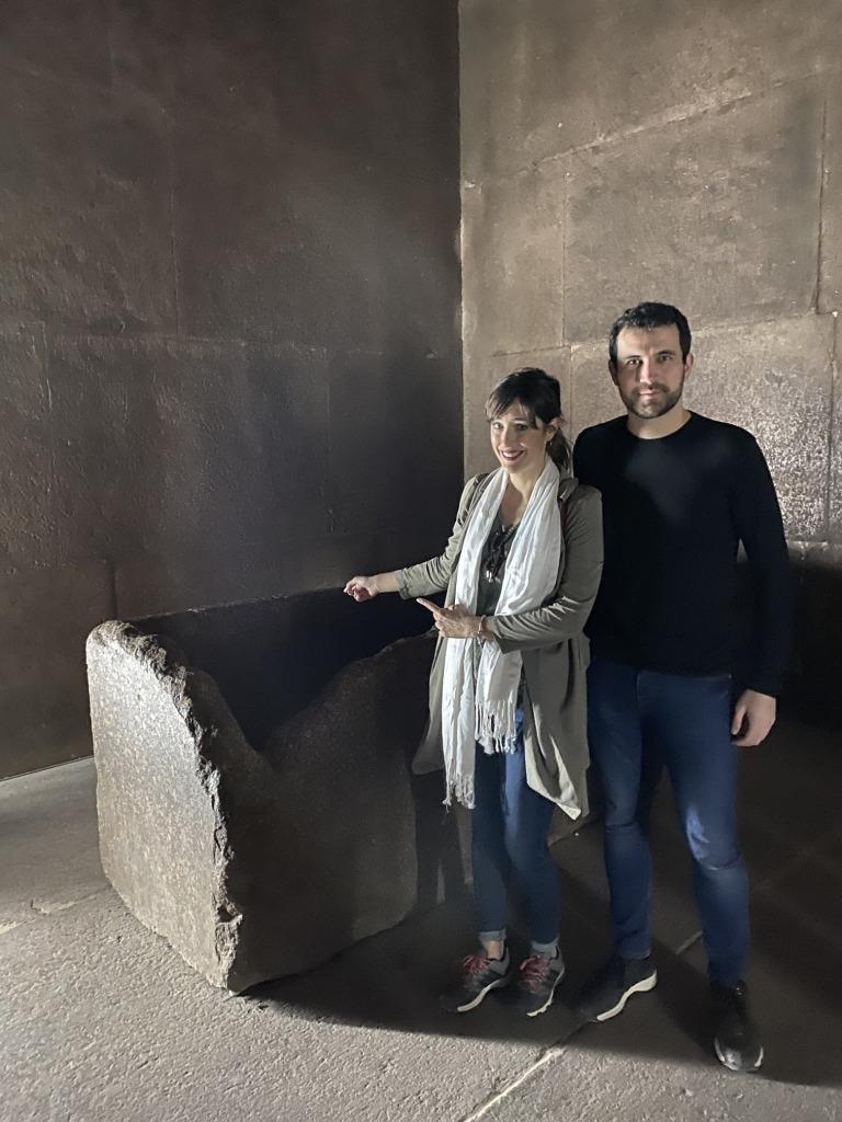 Interior de la tumba de Keops