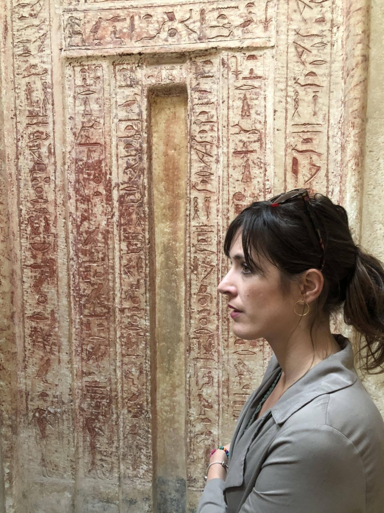 Puerta trampantojo en Saqqara
