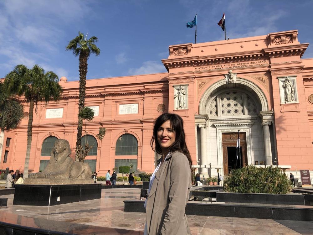 Fachada del Museo de arte egipcio