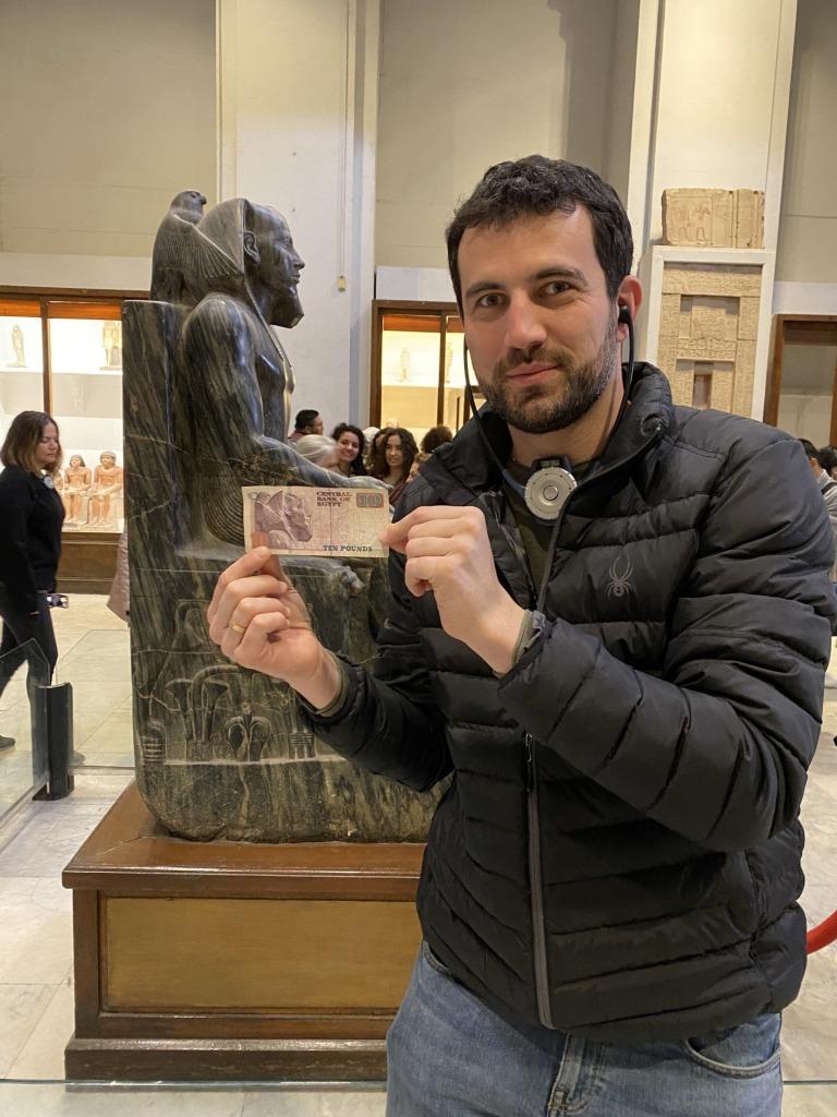 Billete de 10 libras egipcio